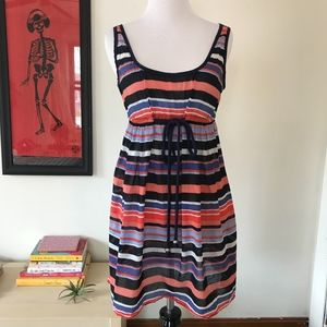 Milly Cabana Striped Beach Coverup Size Small